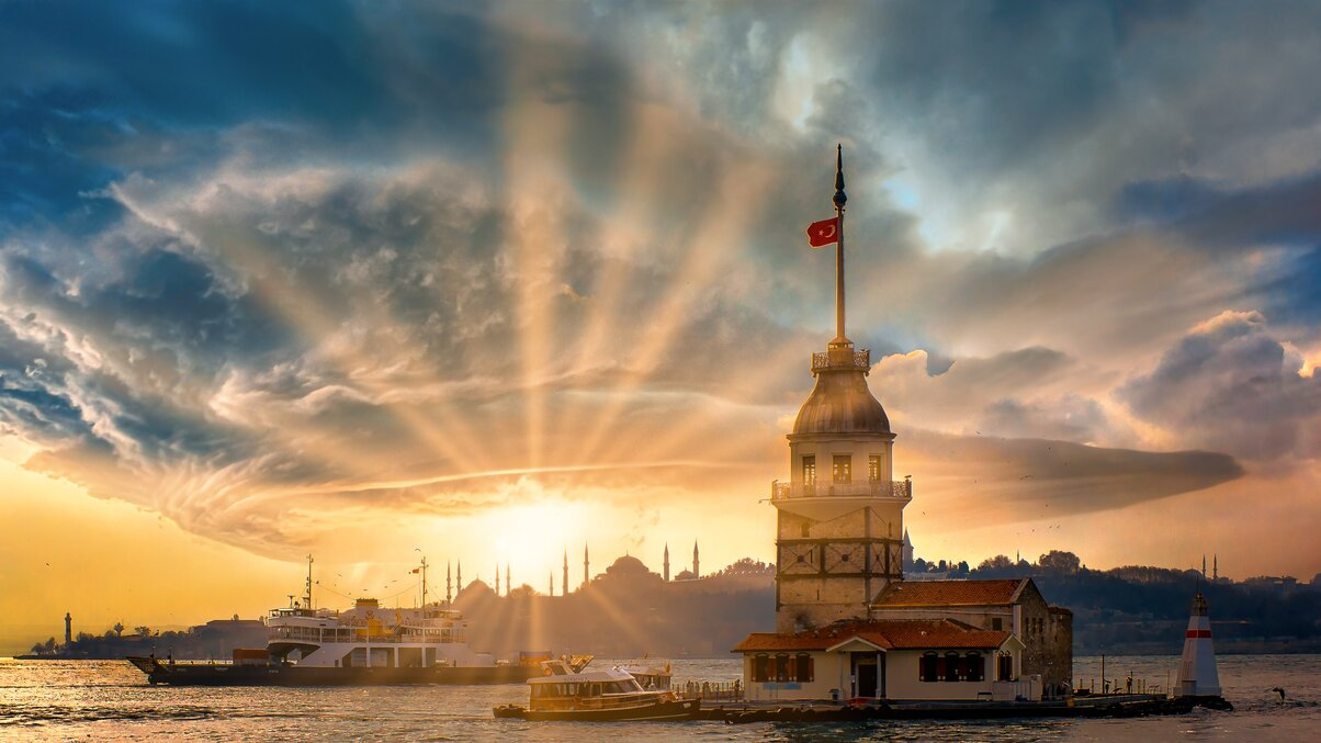 Kız Kulesi manzara fotoğrafı, istanbul