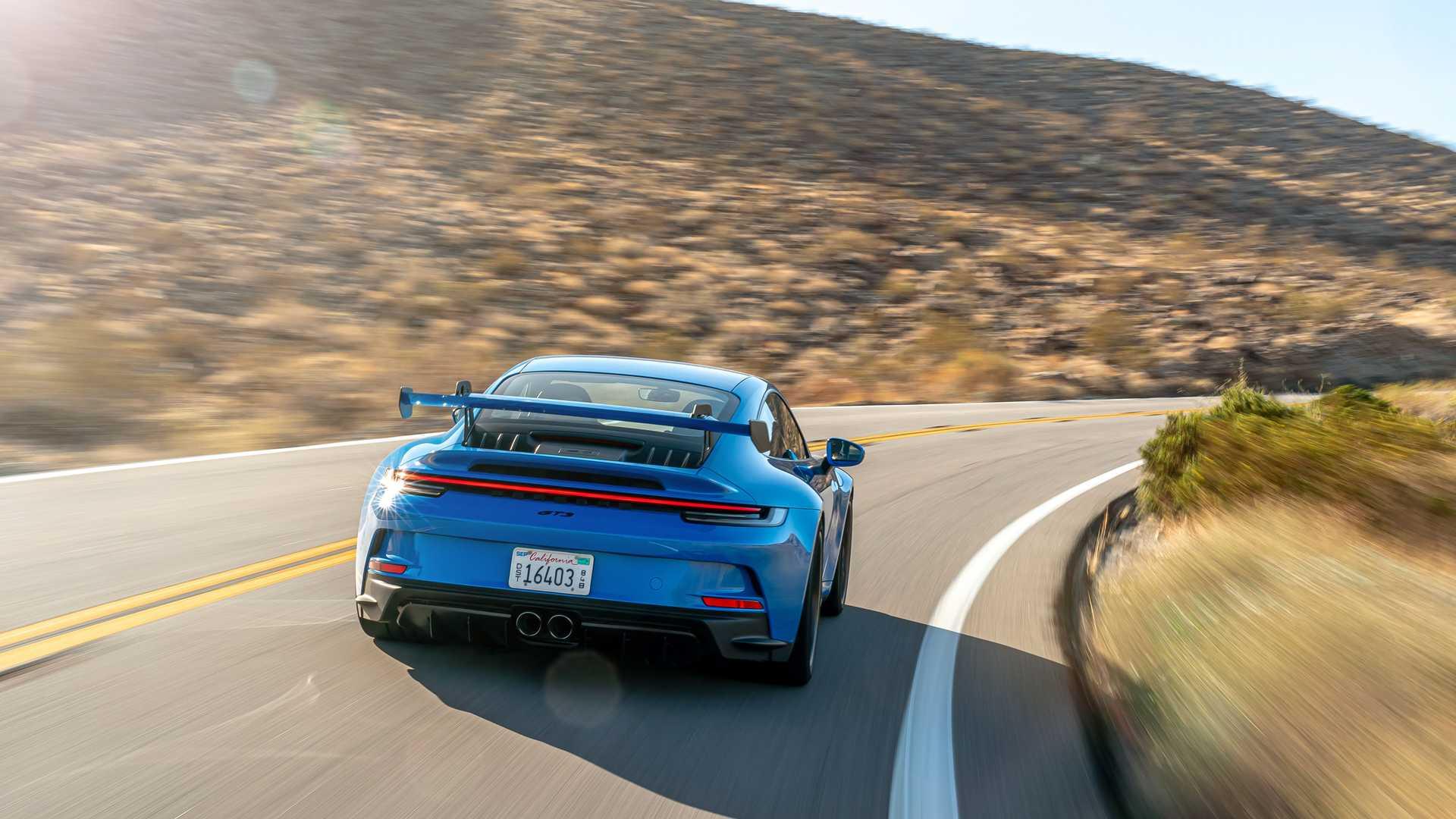 2022 porsche 911 gt3 blue