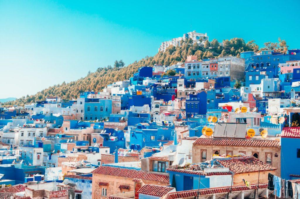 fas mavi evler, mavi şehir, vizesiz gidilecek yerler