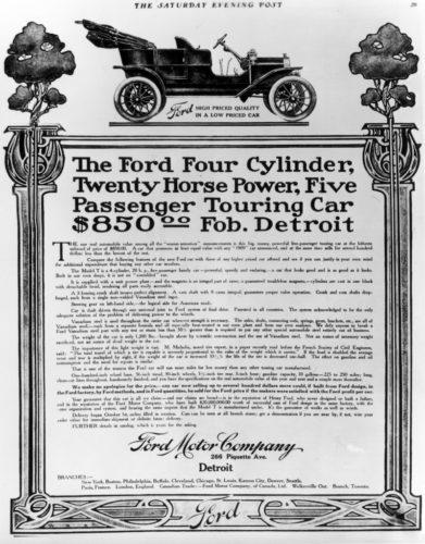 Ford Model T Reklamı