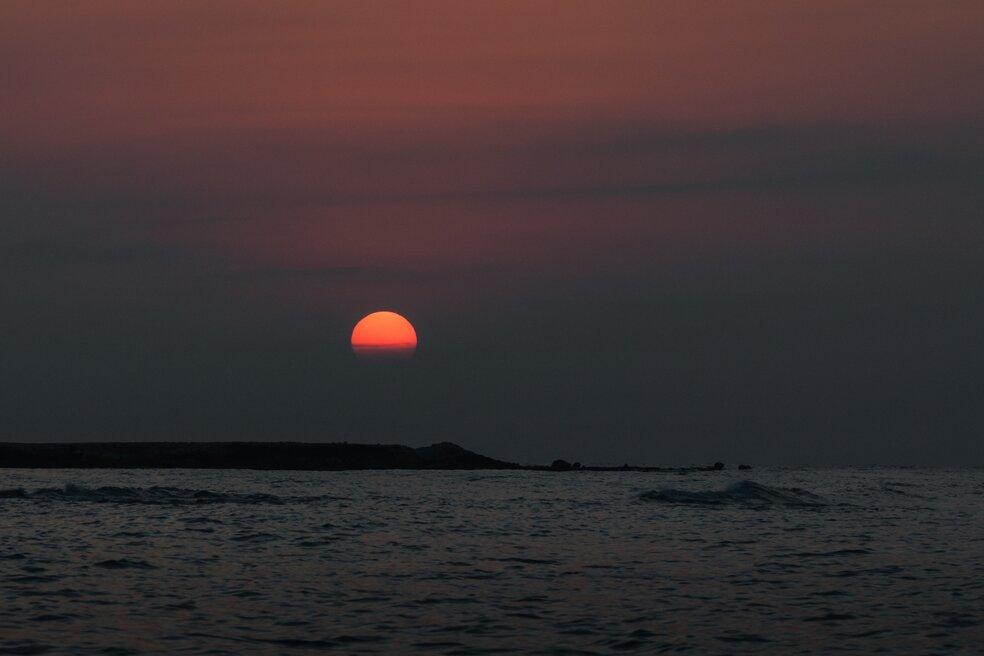deniz manzara fotoğrafı, mersin, türkiye, gün batımı