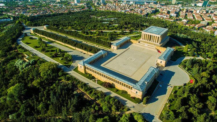 anıtkabir gezisi, barış parkı üstten görünüm